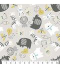 Snuggle Flannel Fabric 43\u0027\u0027-Safari Pals Tossed