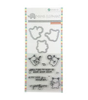 Hampton Art Mama Elephant Clear Stamp & Die Set-Rock Monster, , hi-res
