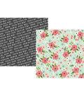 Simple Stories Bloom 25 pk 12\u0027\u0027x12\u0027\u0027 Double-sided Cardstock-Inspired
