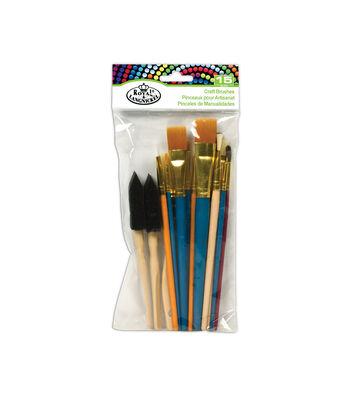 Royal Langnickel 15pc Kids Craft Brush Set