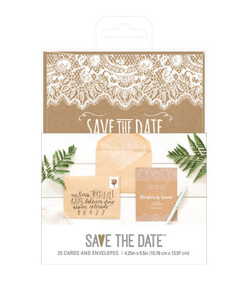 American Crafts Rustic Save the Date