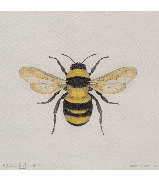 square by design woven fabric 25 bumble bee
