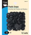 Dritz Plastic Snaps-Round Black