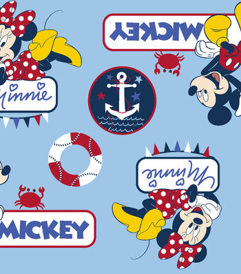 Disney® Mickey Mouse Fabric 59''-Mickey & Minnie Nautical Toss