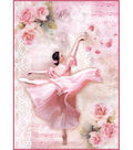 Stamperia A4 Rice Paper Sheet-Dancer with Petals