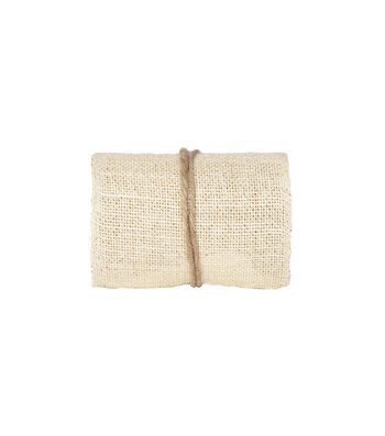 Simply Autumn Burlap Roll 5''x15'-Ivory & Gold