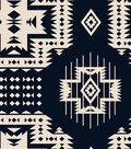 Anti-Pill Fleece Fabric -Southwest on Navy