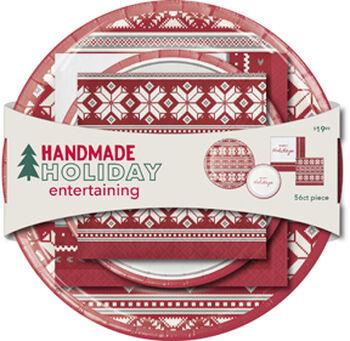 Handmade Holiday Entertaining Paper Plate & Napkin Set-Home & Fair Isle