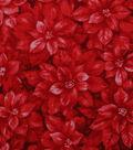Christmas Cotton Fabric-Mini Red Tonal Poinsettias