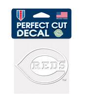 Cincinnati Reds White Perfect Cut Decal, , hi-res