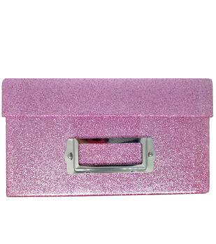Photo Storage Box-Pink Glitter