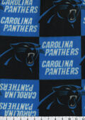 Carolina Panthers Fleece Fabric 58\u0027\u0027-Block