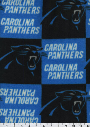 Carolina Panthers Fleece Fabric 58''-Block