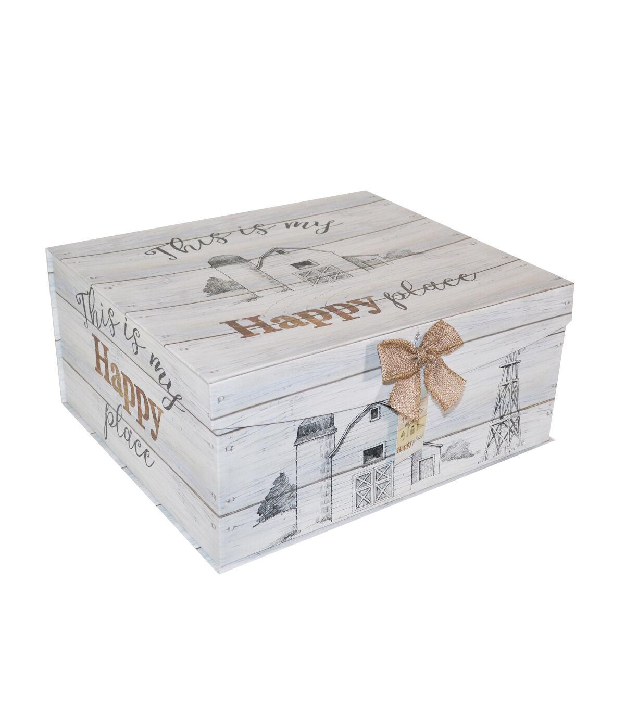 Organizing Essentials X Large Fliptop Storage Box Farmhouse Sentiments