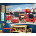 York Wallcoverings Pre Pasted Mural-Cars Friends to the Finish