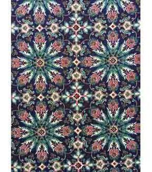 Knit Fabric 57''-Navy Persian Medallion