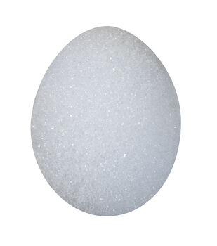4 7/8X3 3/8In Foam Egg White