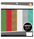 Heidi Swapp Glitter Paper Pad 8.5\u0022X8.5\u0022 18/Pkg-Marquee Love Christmas