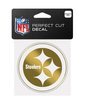Pittsburgh Steelers Gold Perfect Cut Decal, , hi-res
