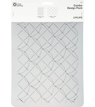 Dritz Quilting Combo Design Stencil Pack-Square Grid & Clamshell