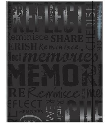 MBI Embossed Gloss Expressions Photo Album-Black Memories