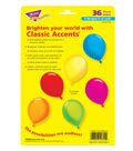 Party Balloons Classic Accents Variety Pack, 36 Per Pack, 6 Packs