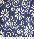 Speciality Cotton Gauze Fabric -Floral on Blue