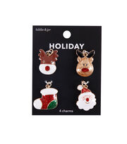 hildie & jo Christmas 4 pk Enamel Icon Holiday Charms, , hi-res