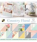 DCWV 36 Pack 12\u0022x12\u0022 Premium Printed Cardstock Stack-Country Floral