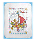 Tobin Sail Away Baby Quilt Stamped Cross Stitch Kit