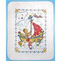 Tobin Sail Away Baby Quilt Stamped Cross Stitch Kit