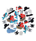 Little Makers Solid And Glitter Foam Stickers-Pirate