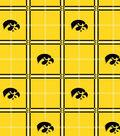 University of Iowa Hawkeyes Flannel Fabric 42\u0022-Plaid