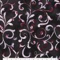 Keepsake Calico Cotton Fabric-Black Tonal Vines