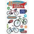 Paper House 3-D Sticker-Riding Bikes