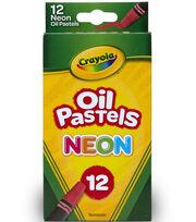 Crayola Neon Oil Pastels 12/Pkg, , hi-res