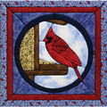 Cardinal Quilt Magic Kit-12\u0022X12\u0022