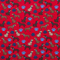 Super Snuggle Flannel Fabric-Dog with Ball on Red