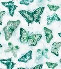 Keepsake Calico Cotton Fabric 43\u0022-Butterfly Multi Teal