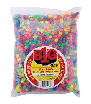 Darice 1 lb. Pony Beads-Neon