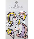 Park Lane Paperie 4 pk Imitation Leather Stickers-Unicorn