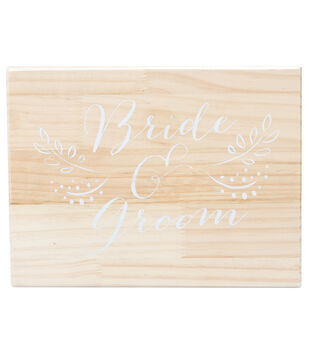 Save the Date 9''x12'' Wooden Box-Bride & Groom