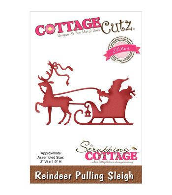 CottageCutz Elites Die-Reindeer Pulling Sleigh