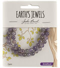 Earth\u0027s Jewels Semi-Precious Round 6mm Beads-Amethyst