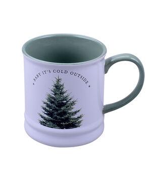 Handmade Holiday Christmas 16 oz. Stoneware Mug-Baby It's Cold Outside