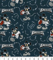 Philadelphia Eagles Cotton Fabric-Mickey, , hi-res