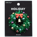hildie & jo Holiday Pin-Green Tinsel Wreath