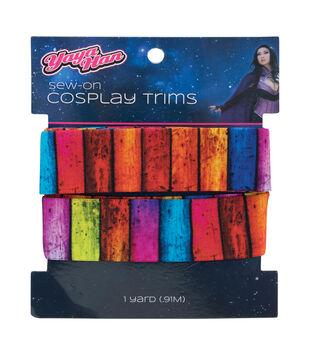 Yaya Han Tribal Elastic Sew-on Cosplay Trim 1''x1 yd-Multi Stripes