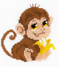 RIOLIS Happy Bee 6\u0027\u0027x6\u0027\u0027 Counted Cross Stitch Kit-Monkey