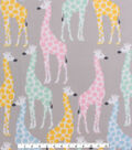 Blizzard Fleece Fabric 59\u0027\u0027-Multicolored Giraffes